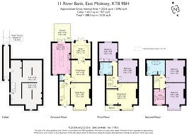 River Bank East Molesey Surrey Kt8 5 Bed Terraced House