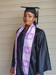 sorority graduation stoles lavender and white kente