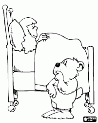 goldilocks and the three bears coloring page 24501