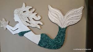 Mermaid Decorations For Home Wooden Mermaid Wall Art Wall Art Design