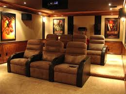 home theatre interior design small room ideas big screen on the brown wall color interior