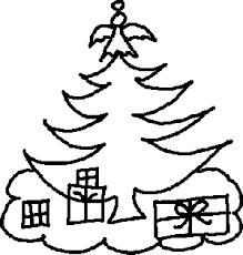 free clipart christmas black white