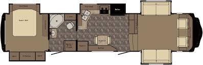 Komfort Rv Floor Plans by 19 Fifth Wheels With Front Living Room 5th Wheel Campers With
