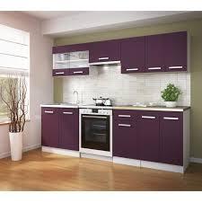cuisine complete pas chere ultra cuisine complète 240 cm couleur aubergine achat vente
