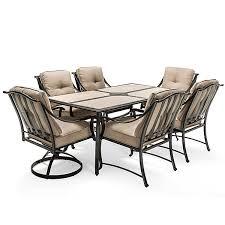 Lay Z Boy Patio Furniture La Z Boy Outdoor Demer 7pc Emerson 7 Pc Dining Set Oatmeal