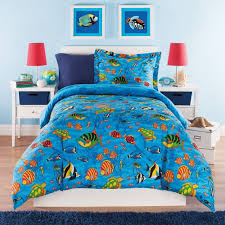 amazon com 3 piece kids full queen comforter set aquarium themed