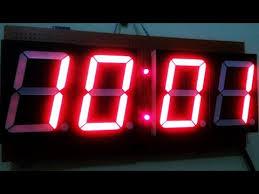 membuat jam digital led besar jam digital arduino rtc 7 segment temperature digit besar youtube