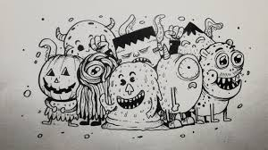 draw 57 drawing group doodle monsters speed drawing doodle art