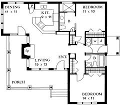two bedroom cottage plans 2 bedroom cottage house plans