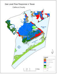 Texas Coast Map Sea Level Rise Planning Maps Likelihood Of Shore Protection In