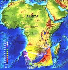 africa map elevation africa