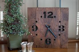 hand made rustic reclaimed wood clock by the green gift idea