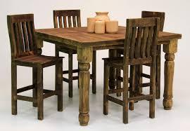Rustic Pub Table Set 5 Piece Rustic Pub Set