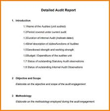 7 internal audit report sample incident report
