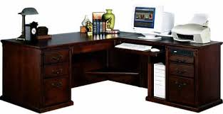 Computer Desk With Return Mahogany And More Desks