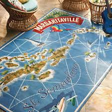 Margaritaville Home Decor Margaritaville St Somewhere Map Outdoor Rug 479 Fins Up