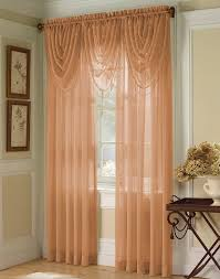 3 Panel Window Curtains Ambrosia Striped Soft Sheer Window Panel Curtainworks Com