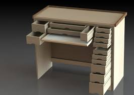 Hobby Bench Plans Watch Makers Bench Solidworks 3d Cad Model Grabcad