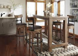 12 Piece Dining Room Set 5 Piece Bar Table Set With Upholstered Swivel Stools With Wood