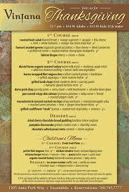 vintana s 3 course thanksgiving dinner cohn restaurant
