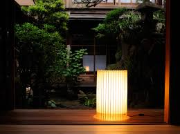 Japanese Floor Lamp Hiyoshiya Creates Modern Lamps Modeled After Traditional Japanese