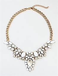 white collar necklace images White crystal collar necklace statement necklace with clear jpg