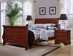 cherry sleigh bed louis queen sleigh bed cherry finish bb13 553a 355a 722