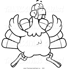 running turkey clipart black and white clipartxtras