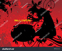 red halloween background witch treat on red halloween background stock vector 38079280