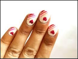love heart nail art design easy nail art youtube