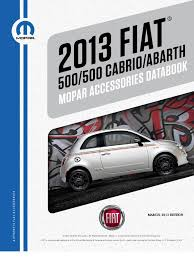 fiat 500 and 500 abarth accessories catalog fiat500usa com trunk