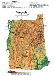 Topographic Map Usa by Landscape Map Vermont