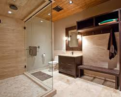 Beige Bathroom Ideas Barely Beige Bathroom Brown Wooden Vanity With Drawers Cool