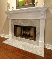 Inverted Living San Francisco Marble Fireplace Hearth Living Room Contemporary