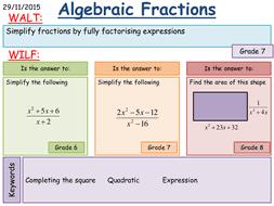 algebraic fractions worksheet tes on job summary with algebraic
