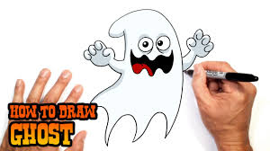 cartoon halloween ghost how to draw a halloween ghost drawing lesson youtube