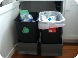 Kitchen Cabinet Trash Can Pull Out Outdoor Built In Trash Cans Built In Bathroom Trash Can Grey Pull