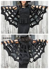 no sew halloween spiderweb cape tutorial