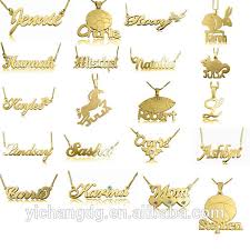 personalized name pendant stainless steel personalized name necklace 24k gold plated initial