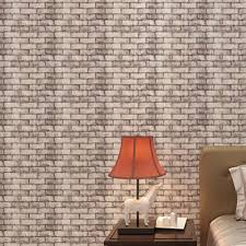 wholesale 1 roll 3d brick wall wallpaper natural embossed home