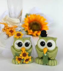owl cake toppers owl cake topper bird wedding cake topper green owls