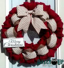 burlap wreath christmas burlap wreath red and natural