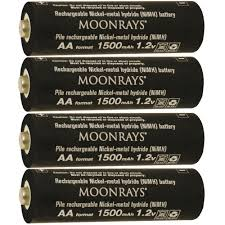 solar batteries for outdoor lights moonrays rechargeable 1500 mah nimh aa batteries for solar powered