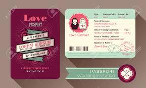Design Wedding Invitation Cards Retro Visa Passport Wedding Invitation Card Design Royalty Free