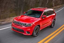 blue jeep grand cherokee srt8 2018 jeep grand cherokee trackhawk first look hell cheetah