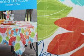Oblong Table Cloth Essential Home Oblong Tablecloth Summer Floral 60 X 120