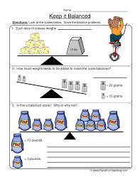 keep it balanced balanced scale worksheet 1