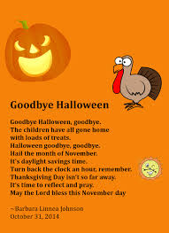 goodbye halloween an original poem created by barbara l johnson