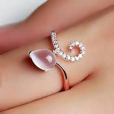 three stone bypass swirl promise ring personalized i love this