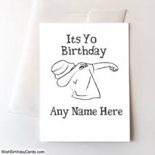 very funny birthday cards with name online greeting card